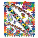 """Partypaket zum Geburtstag """"Knallige Luftballons"""" 11-tlg."""