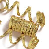 Serpentins unis à paillettes - or