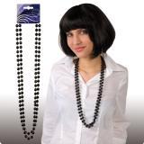 Collier de perles 38 cm 2 pcs. - noir
