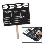 """Déco de salle pancarte """"Clap de cinéma Hollywood"""" 56 cm"""