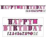 "Guirlande personnalisable ""Fabulous Birthday"" 30 pcs."