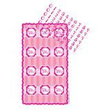 """Déco pour muffins personnalisable """"Pretty Pink"""" 13 pcs."""
