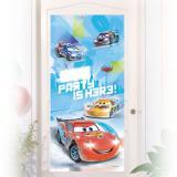 """Déco de porte personnalisable """"Course folle - Cars"""" 150 x 76 cm"""