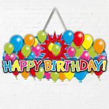 "Déco personnalisable ""Happy Birthday"" 52 cm"