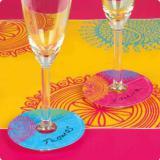 """Marque-verres personnalisables """"Mandala"""" 36 pcs"""