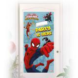 """Déco de porte personnalisable """"Spider-Man - Web Warriors"""" 76 x 152 cm"""