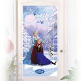 """Déco de porte personnalisable """"La reine des neiges - Disney"""" 76 x 152 cm"""