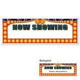 """Bannière personnalisée """"NOW SHOWING"""" 152 cm x 53 cm"""