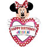 """Ballon en aluminium personnalisable """"Minnie Mouse"""" 60 x 83 cm"""