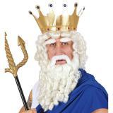 """Perruque """"Roi de la mer"""" avec barbe et sourcils 4 pcs."""