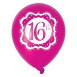 "Ballons de baudruche ""Pretty Pink"" 16 ans 6 pcs."