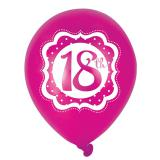 "Ballons de baudruche ""Pretty Pink"" 18 ans 6 pcs."