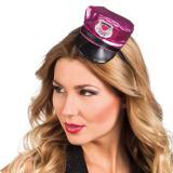 "Serre-tête ""Petit chapeau de police rose vif"""