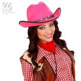 Chapeau de cow-girl rose vif