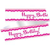 """Tour de gâteau """"Pretty Pink"""" 100 cm"""