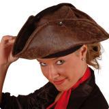 Tricorne de pirate façon cuir marron