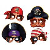Masques de pirates 30 cm 4 pcs