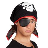 Foulard de pirate avec cache-œil 59 cm