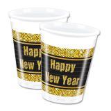 """8 gobelets en plastique """"Glamour New Year"""""""