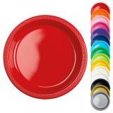 """10 assiettes en plastique """"Éventail de couleurs"""""""