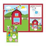 """Kit d'activités """"Ma petite ferme"""" avec autocollants 16 pcs."""