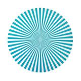 """6 sets de table """"Rayures"""" - turquoise"""