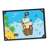 """6 sets de table """"Voyage de pirates"""""""