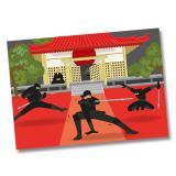 "6 sets de table ""Sacré ninja"""