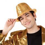 """Chapeau """"Popstar"""" avec paillettes - doré"""