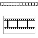 "12 décos de salle ""Pellicule de film"" 95 cm"