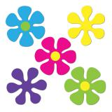 Déco de salle Flower-Power 5 pcs