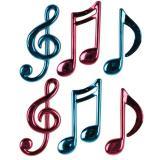 """Déco de salle """"Notes de musique funky"""" 6 pcs"""