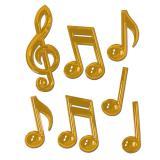 """Déco de salle """"Grosses notes de musique dorées"""" 7 pcs 56 cm"""