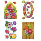 """Déco de salle """"Paradis fleurs d'hibiscus"""" 18 pcs 41 cm"""
