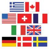 """Déco de salle """"Mini drapeaux du monde"""" 10 pcs 11 cm x 8 cm"""