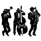 """Déco de salle """"Jazz band"""" 46 cm 3 pcs"""