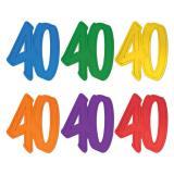 """Déco de salle """"Chiffre jubilé 40"""" 30 cm"""