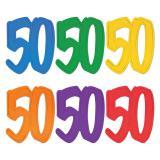 """Déco de salle """"Chiffre jubilé 50"""" 30 cm"""