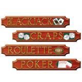 """Déco de salle """"Panneaux traditionnels de Casino"""" 4 pcs"""