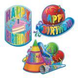 """Déco de salle """"Ballons festifs - anniversaire"""" 3 pcs"""
