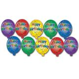 "Décoration de salle ""Mini Ballons Happy Birthday"" 10 pcs"