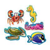 """Déco de salle """"Adorables animaux sous-marins"""" 10 pcs."""