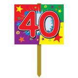 """Pancarte murale """"40 Ans"""" 61 cm"""