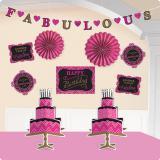 """Déco de salle """"Fabulous Birthday"""" 10 pcs."""