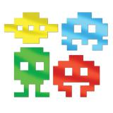 """Déco de salle """"Space Invaders"""" 4 pcs"""