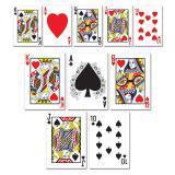 """Déco de salle """"Jeu de cartes"""" 13 cm 10 pcs."""