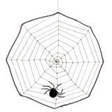 """Déco de salle """"Toile d'araignée"""" 40 cm"""
