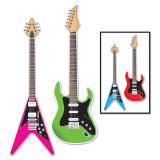 """Décos de salle """"Guitares colorées"""" 91 cm 2 pcs"""