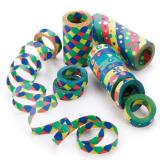 Rouleaux géants de serpentins multicolores 3 pcs