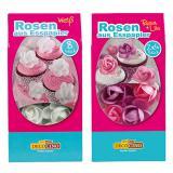 8 roses en papier comestible